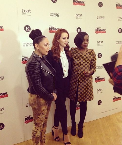 Siobhan from Mutya-Keisha-Siobhan wore Manitic's shirt from SS14 collection at the Regent Street Christmas Light Show