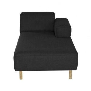 L Chaise Sofa - Dunkelgrau
