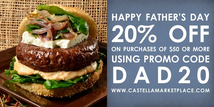 Let Castella help you plan your Father's Day menu! From appetizers to sides to full meals, Castella has you covered! check out our recipes here: http://www.castella.com/Recipes.aspx  Get 20% off of your purchase of $50 or more using the code DAD20 at checkout. Shop Now: http://www.castellamarketplace.com/index.aspx?dc=DAD20