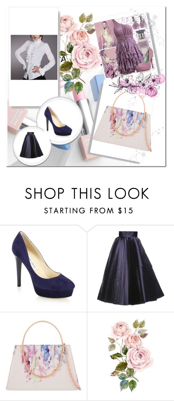 """женственно и изящно"" by n-rak on Polyvore featuring мода, Jimmy Choo, Dice Kayek, Ted Baker, Sephora Collection и Karlsson"