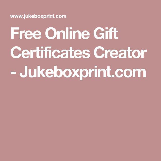 gift certificate creator