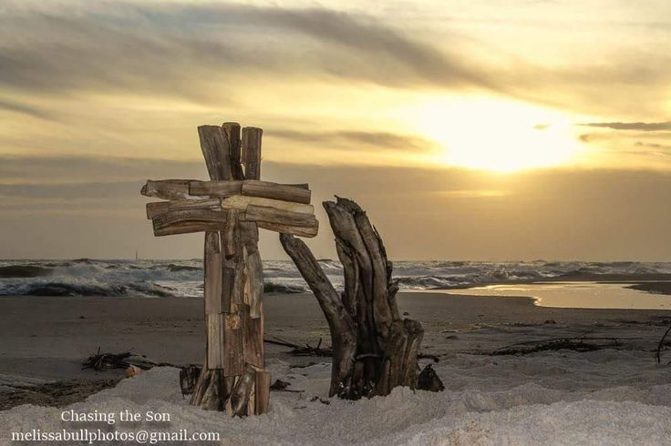 Old Rugged Cross on the beaches of Alabama at Fort Morgan.