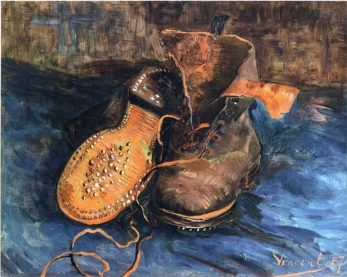 A Pair of Shoes - Vincent van Gogh. This vies for my favorite of VvG's works. I love this piece.