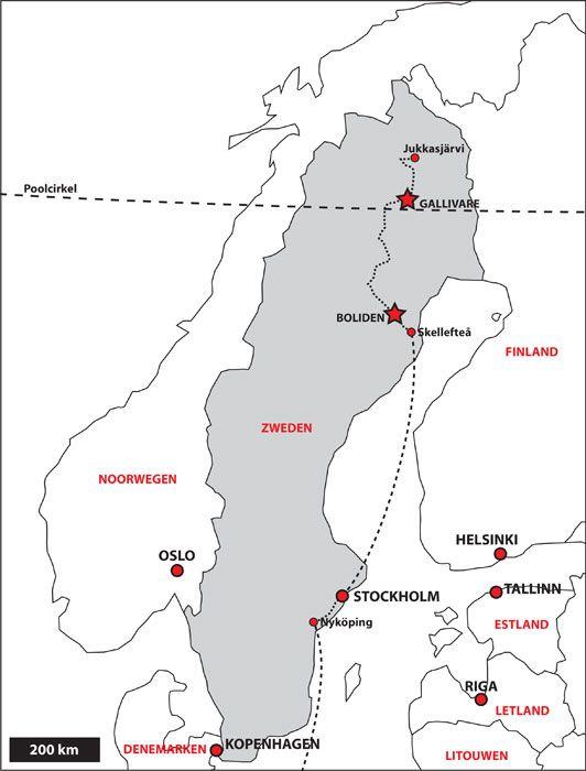 Poolcirkel Noorwegen, Zweden en Finland