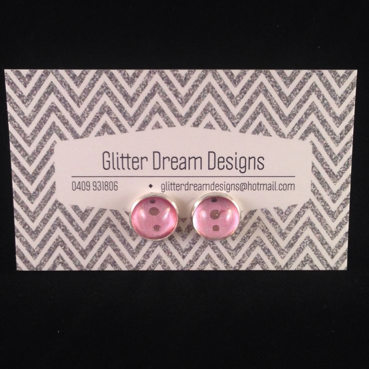 Order Code A14 Pink Cabochon Earrings