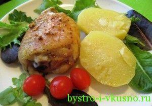 Картофель с курицей в молоке