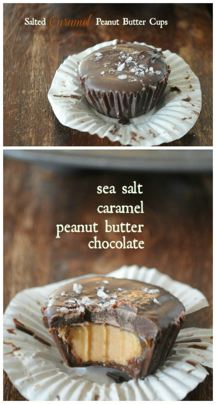 Homemade Salted Caramel Peanut Butter Cups. OH MY GOSH, this are amazing!!! | mountainmamacooks.com