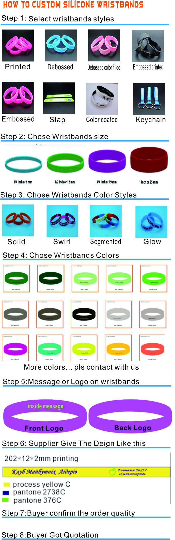 Aliexpress.com : Buy Custom personalized big quatity silicone bracelets for promotional gifts deposit link C02 from Reliable bracelet companies suppliers on CUSTOM PROMOTIONAL GIFT