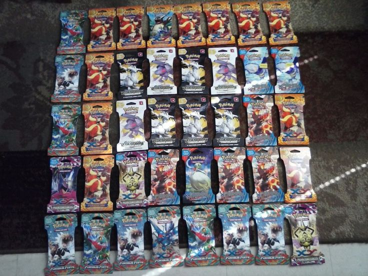 40 packs POKEMON Full Art, EX, Mega Booster Cards ~ UNSEARCHED FACTORY SLEEVES #Nintendo