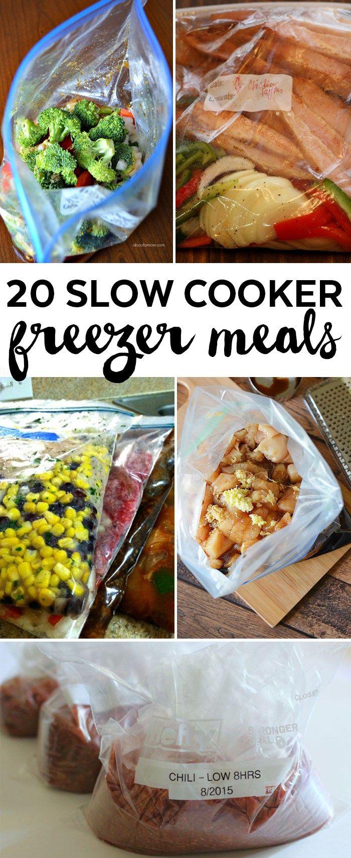 Slow Cooker Freezer Meals for New Moms | Freezer Crockpot Meals | Make Ahead Meals Slow Cooker Recipes | Freezer Cooking Recipes | Make Ahead Freezer Meals | Crock Pot Freezer Meals