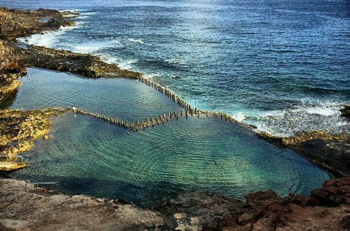 Piscinas de roque prieto costa de santa mar a de gu a for Piscinas naturales gran canaria