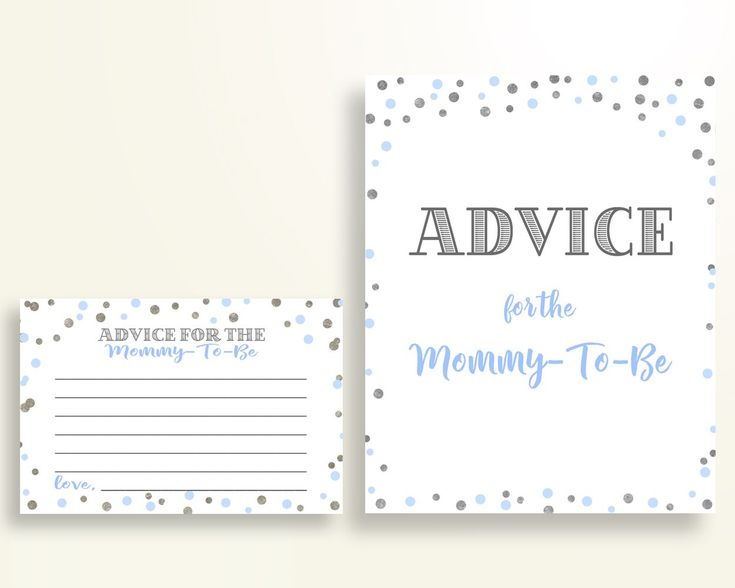 Advice Cards Baby Shower Advice Cards Blue And Silver Baby Shower Advice Cards Blue Silver Baby Shower Blue And Silver Advice Cards OV5UG - Digital Product baby shower baby shower party newborn mommy to be Blue And Silver