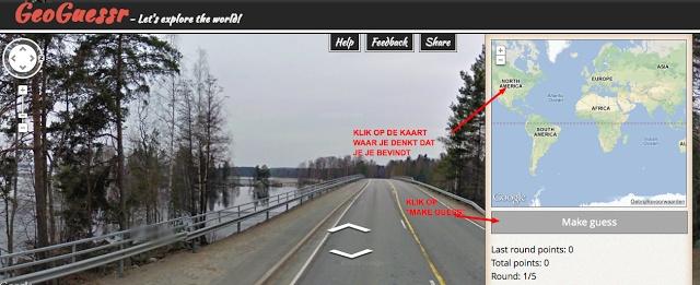 Met GeoGuessr kan je je kennis over de wereld testen op een ietwat ongewone manier. Bij het begin van het spel word je ergens op de aardbol gedropt en kan je met Streetview op onderzoek uitgaan waar je je bevindt. Een soort van virtuele dropping dus.