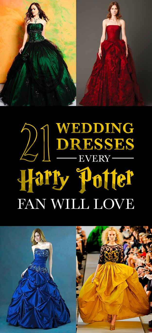 21 Magical Wedding Dresses Harry Potter Fans Will Adore