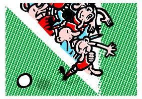 Thilo Rothacker: Fußballzitat Marcel Reif | Je länger das Spiel dauert, desto weniger Zeit bleibt. (Marcel Reif) Illustriert für Kultstücke. | Format: DIN A3, ohne Rahmen | Auflage: 25 Stück, signiert | erhältlich bei www.kultstuecke.com