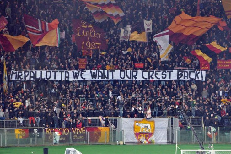 AS Roma - Torino 2013/14 curva sud: Mr Pallotta we want our crest back !