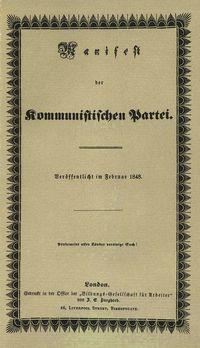 El manifiesto comunista. Marx y Engels.