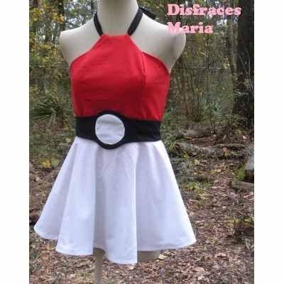 Disfraz Pokebola Pokemon Mujer Vestido Cosplay $950 anEP0 - Precio D Argentina