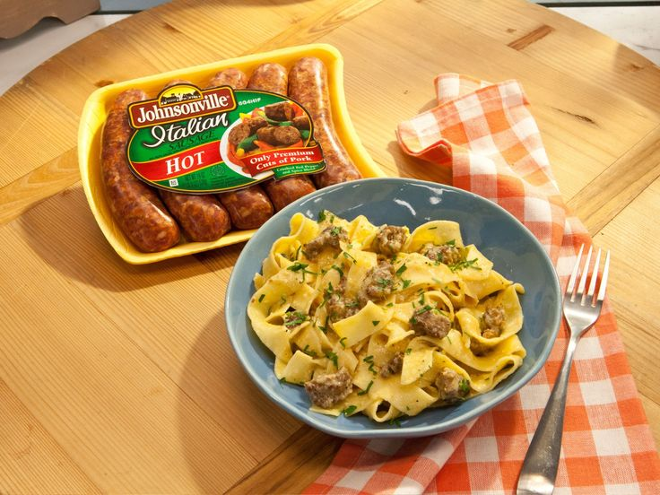 Get this all-star, easy-to-follow Sunny's 5-Ingredient Spicy Sausage Carbonara recipe from Sunny Anderson
