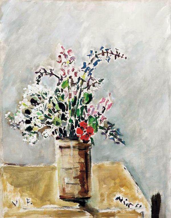Filippo de Pisis - Flowers 1951