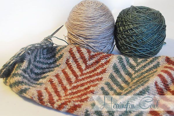 This week on the blog I am working away on my Herrington Cowl and trying out a new tool