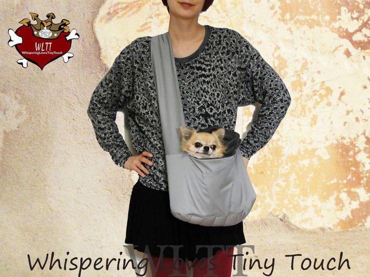 """Hundetragetasche """"SILVerGReY"""" Dogbag von WLTT Dogfashion auf DaWanda.com"""