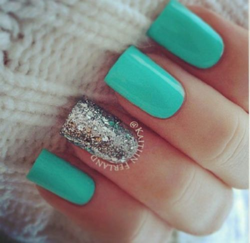 Nails Art..... Nice design for me! - Top 25+ Best Teal Acrylic Nails Ideas On Pinterest Mint Acrylic