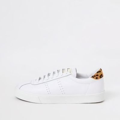 Checkout this Superga white sport runner trainers from