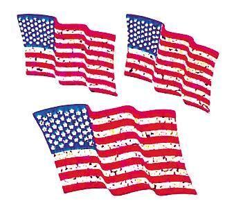 Jillson & Roberts Bulk Roll Prismatic Stickers, American Flags (100 Re – Present Paper