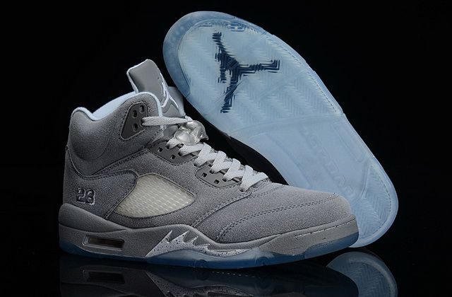save off 73cc7 6c7c6 Newest Air Jordan V Suede Retro Wolf Grey Light Graphite White 136027 005  Discount Sale
