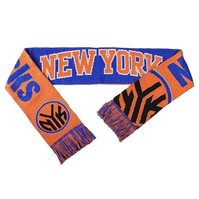 Forever Collectibles - NBA Reversible Split Logo Scarf New York Knicks, Adult Unisex