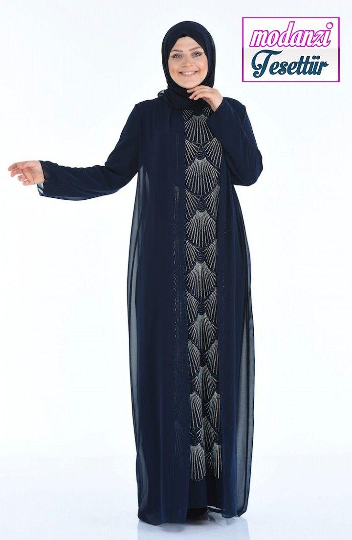 Sefamerve Buyuk Beden Abiye 2020 Buyuk Beden Tas Baskili Abiye Elbise 4022 01 Lacivert 2020 Elbise Elbise Modelleri Moda Stilleri