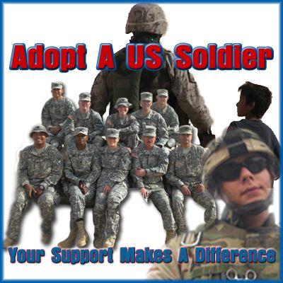 "This holiday season, think about you and your family ""adopting"" a deployed soldier. Some have no one that writes them letters or sends them little gifts. What a great opportunity to share in the Christmas spirit and thank the heroes that defend our country!!"