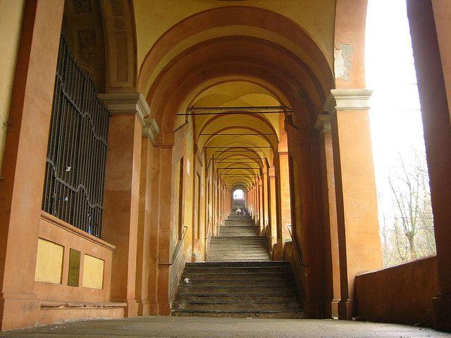 Portico di San Luca, Arcades in Bologna, Italy