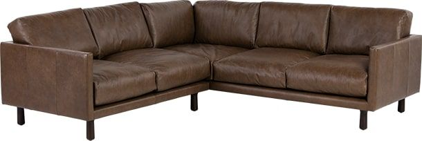 Carey Corner Sofa, Saddle Tan Premium Leather from Made.com. Brown. They say vintage-inspired sofas are all style and no comfort. That they're desig..