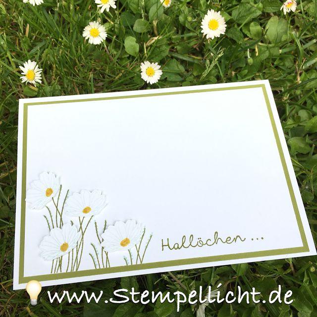 Blumenkarten mit Gänseblümchengruß und Doppelt gemoppelt von Stampin´Up!