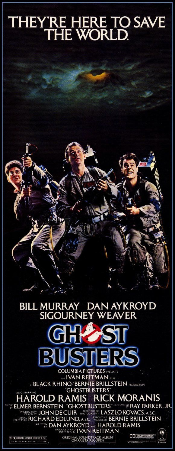 Ghostbusters (1984). Bill Murray, Dan Aykroyd, Harold Ramis, Sigourney Weaver, Rick Moranis. Ghosts | Comedy.