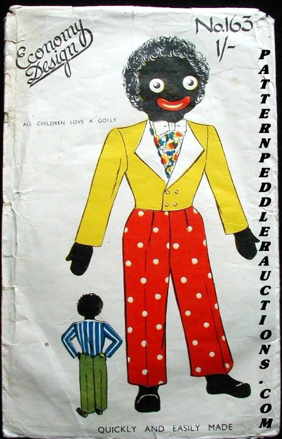 1940's Golliwog,Economy Design Sewing Pattern...Clothes for the Golliwog.