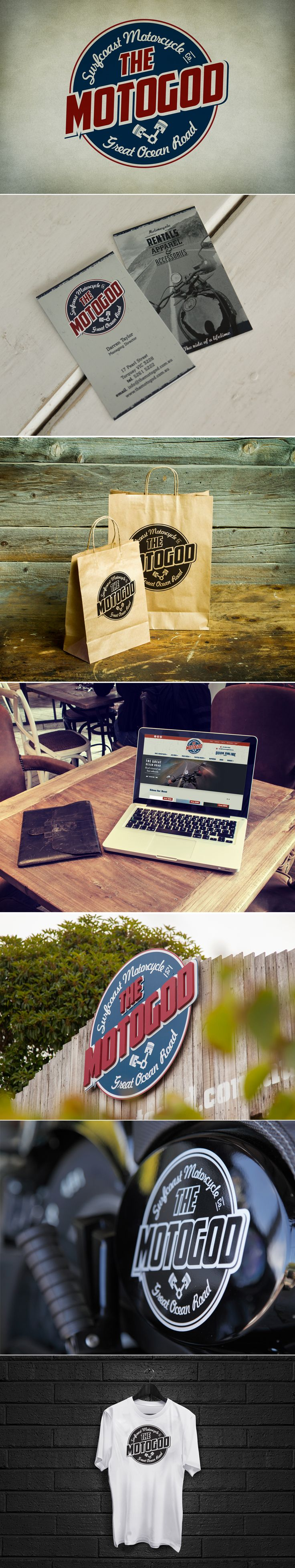 The Moto God branding included, stationery, brochures, e-commerce website, signage and consultation.