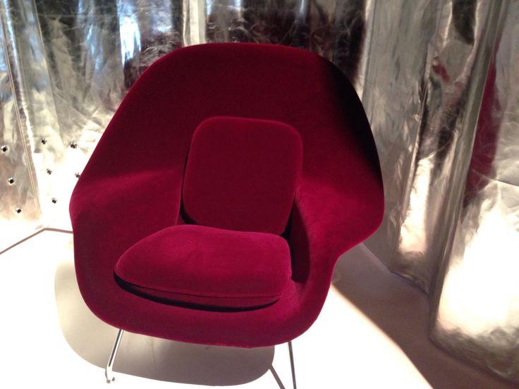 Womb Chair in burgundy by Kartel #MilanoDesignWeek