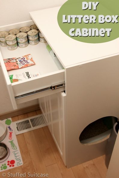diy litter box furniture cabinet, kitchen cabinets, laundry rooms, organizing, pets animals, repurposing upcycling