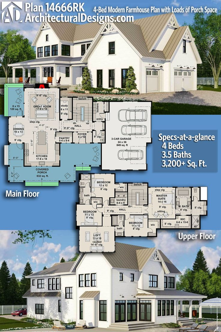 Architectural Designs House Plan 14666RK gives you