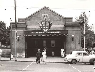 Built in 1922 and modeled on the London tube, St James was the first underground train station in Australia, along with Museum.
