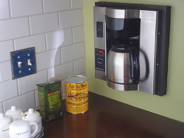 Built In Coffee Maker That S A Good Idea For The Home Pinterest Kitchen And