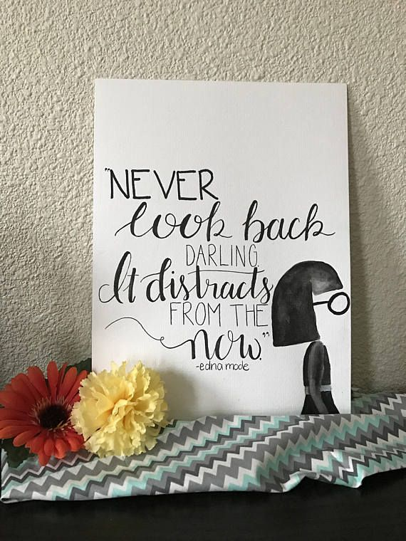 Watercolor Print Disney Quote Painting Home Decor