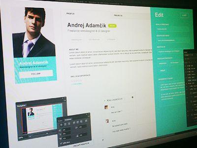 Profile page by Erik Adler