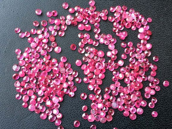 WHOLESALE 5 CTW 120-125 Pcs Ruby Round Cut Stones by gemsforjewels