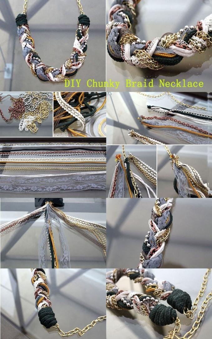 DIY Chunky Braid Necklace