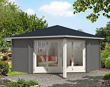 5-Eck Gartenhaus Sophie-44 mit großer Falttür