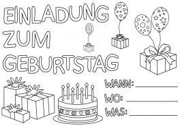 Geburtstag Ausmalbilder Ausmalbilder Fur Kinder Geburtstags